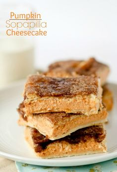 Pumpkin Sopapilla Cheesecake Bars