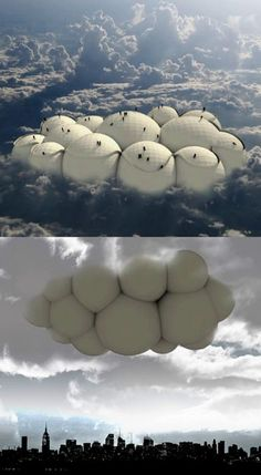 Cloud Travelling – WorldDrop Cloud Travelling Forghet about conventional ways and travel by artificial clouds. This is a interesting concept… Architecture Design, Cultural Architecture, Concept Architecture, Amazing Architecture, Futuristic City, Futuristic Technology, Futuristic Architecture, Small Apartment Design, Apartment Interior