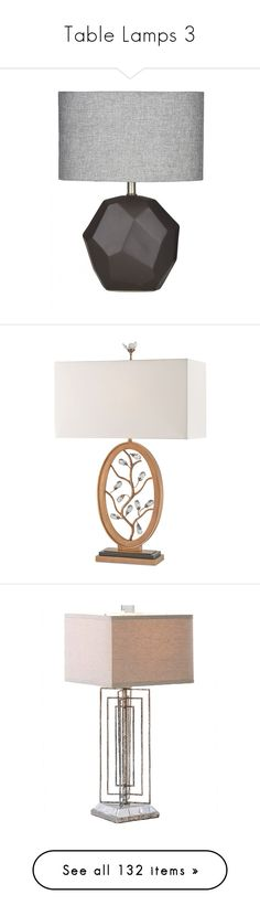 """""""Table Lamps 3"""" by mysfytdesigns ❤ liked on Polyvore featuring home, lighting, table lamps, gray lamps, silver table lamps, silver lights, gray table lamps, colored lamps, lights and furniture"""