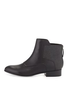 Pour la Victoire Keon Studded Leather Ankle Boot, Black