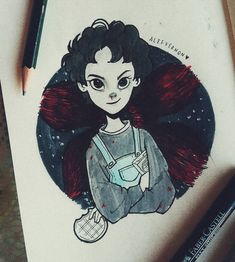 "Polubienia: 18.8 tys., komentarze: 153 – Alef Vernon (@alefvernonart) na Instagramie: ""Just a quick Eleven's illustration just to say that the #Inktober is next to end... :/ ✨…"""