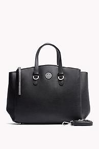 481ffac1404 Shop the black   iron satchel and explore the Tommy Hilfiger tote bags  collection for women