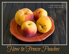 Save the peaches! The Lazy Person's Guide to Freezing Peaches lets you stockpile fresh peaches for winter in a flash.