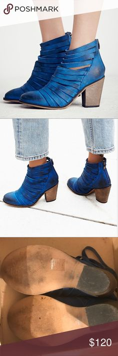 FREE PEOPLE Hybrid Heel Boots Genuine leather booties, extremely comfortable and stylish. Slightly worn, in a very good condition (worn a couple of times). Comes in the original box Free People Shoes Ankle Boots & Booties