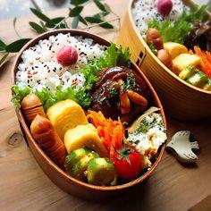 Bento Recipes, Vegetarian Recipes, Healthy Recipes, Asian Recipes, Real Food Recipes, Cooking Recipes, Japanese Lunch, Japanese Food, Bento Box Lunch