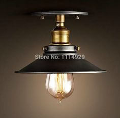 American Style Copper Lamps Ceiling Lights Personality Simple Balcony Lamp Loft Industrial Vintage Home Lighting Antique Bulbs *** Click image to review more details.