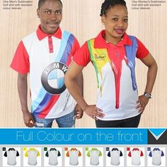 Lower Cost, Same Quality - New Style Sublimated Golf Shirts fromBest Branding South Africa.Tired of the same old drab golf shirt colours?Try our sublimation golf shirts for an explosion of colour.Colours are crisp and bright and your logo is brought to life with detail. Our new design in 11 standard colours for the back, collar and sleeves, reduces the cost significantly of all over sublimation shirts without compromising the vibrancy of full colour. Stay cool thanks to our moisture manag Sublime Shirt, Golf Shirts, South Africa, Tired, Colorful Shirts, Screen Printing, Crisp, Bring It On, Branding