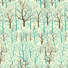 Mid Century Trees – Blue  http://fabricrehab.co.uk/fabrics/mid-century-trees-blue/