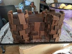 Chocolate overdose castle cake!