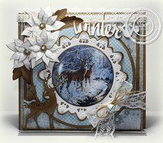 "Ineke""s Creations Christmas Deer, Christmas 2017, Handmade Christmas, Christmas Cards, Shabby Chic Xmas Cards, Poinsettia Cards, Crafters Companion Cards, Marianne Design, Creative Cards"