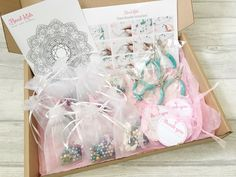 Host your own kids charm bracelet jewellery making party with a fabulous Bead-Kids Party in a Box!  Includes everything you need to host your own party - including the tools!  Such a pretty box of craftiness!