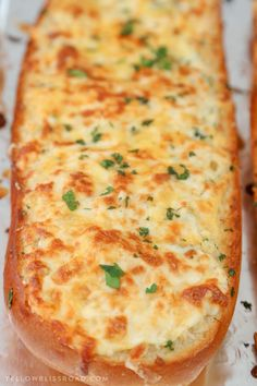 Turn plain french bread into cheesy, garlicky perfection with this epic Cheesy Garlic Bread. With three kinds of cheese, herbs and tons of garlic, this is the homemade garlic bread you're…View Post Homemade Garlic Bread, Garlic Cheese Bread, Cheesy Garlic Bread, Best Garlic Bread Recipe, Garlic Bread Image, Garlic Bread Baguette, Cheese Breadsticks, Homemade Breads, Bread Machine Recipes