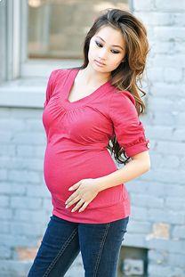 fall maternity shirt