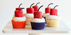 """You will """"BLOW"""" people's minds with this adorable, and easy cupcake that is perfect for any July 4th celebration!"""