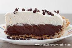 choc cream pie from scratch...♥