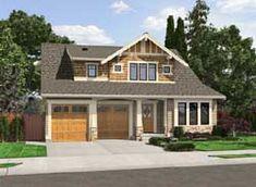 MonsterHousePlans - 88-187 Bungalow Floor Plans, Modern Floor Plans, Craftsman Style House Plans, Craftsman Exterior, Craftsman Houses, Exterior Paint, House Plans One Story, Family House Plans, Bungalow Homes