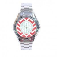 So cute.  chevron personalized watch.  this whole site is awesome!
