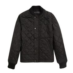 Quilted Cord Jacket Black, $125, now featured on Fab.