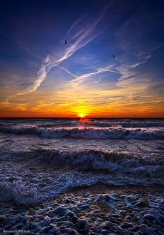 ~~From Here On After ~ sunrise and surf, Lake Michigan, Kenosha, Wisconsin by Phil~Koch~~