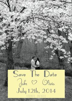 A personal favorite from my Etsy shop https://www.etsy.com/ca/listing/182708173/digital-file-save-the-date-custom-photo