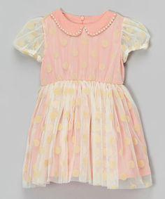 Loving this Pink Polka Dot Overlay Dress - Infant, Toddler & Girls on #zulily! #zulilyfinds