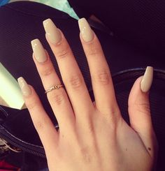 Nude Coffin Ballerina nails