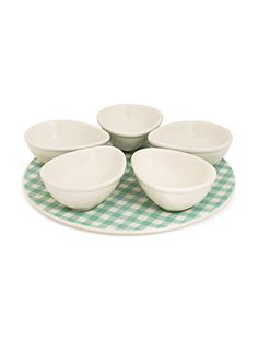 TO BUY IN LONDON: Appetiser and Dip Bowls Gingham | Gingham | Kitchen Kit | Nigella Lawson