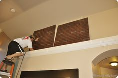 The ins and outs of Faux Brick Panels! So amazing!!