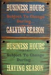 Show/sale season, breeding season, planting/harvesting season too!