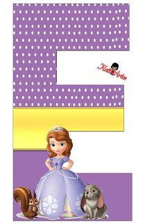 ... Princess Sofia Birthday, Princess Sofia The First, Sofia The First Birthday Party, Birthday Party Themes, Birthday Invitations, Birthday Letters, Happy Birthday Banners, Letter Standee, Princesa Sophia