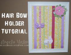 Angela Yosten: Hair Bow Holder Tutorial