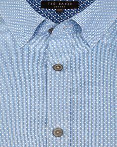 Geo print shirt - Blue | Shirts | Ted Baker