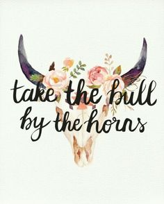"""""""Take the bull by the horns!"""""""
