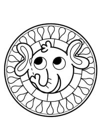 Coloriage Mandala Banane.Mandala Elephant Pour Les Petits Coloriage Maternelle