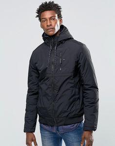 0252c0ba3c Hilfiger Denim Hooded Jacket In Black. Bomber JacketHooded JacketCoatJacketsHilfiger  DenimBlackStyleWindbreakerHoods