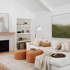 Large Leather Ottoman, Large Ottoman, Leather Ottoman Coffee Table, Room Maker, Interior Exterior, Interior Design, Living Room Flooring, Leather Furniture, Cozy House