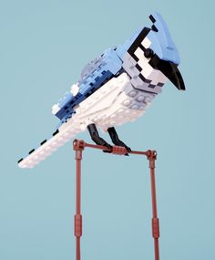 Bradley the Blue Jay and 11 other Incredible Lego Scuptures