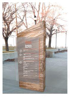 Anaheim Bay Park Signage System by Emily Rinehart, via Behance