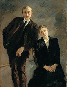 Portrait of Max Beckmann and Minna Beckmann-Tube- Max Beckmann 1909