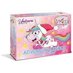 CRAZE Premium Advent Calendar Unicorn Horse Christmas Surprise for Children Colorful American Girl Furniture, Despicable Me 3, Barbie, Unicorn Horse, Bunt, Toy Chest, Storage Chest, Snoopy, Horses