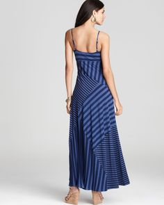 Ella Moss Dress - Waldo Striped Maxi Dress - in Nautic