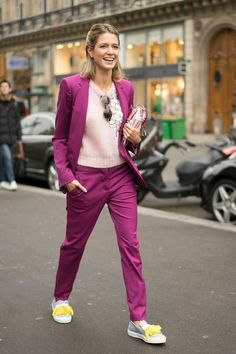 Pink Suit outfit, The best street style inspiration & more details that make the difference