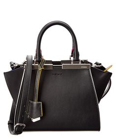 FENDI Fendi Mini 3Jours Leather Mini-Satchel'. #fendi #bags #shoulder bags #hand bags #leather #satchel #lining #