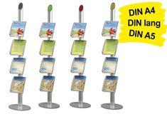 Der auffallende Prospektständer A4 MULTICOLORED (4x DIN A4) bringt Farbe in die Präsentation.  Die oberen Abschlusselemente lassen sich farblich individualisieren.  Ergänzend zu dieser Besonderheit kann der Prospekthalter eine sehr große Anzahl von Prospekten aufnehmen – Fülltiefe der Prospektablagen beträgt 60 mm. https://www.messepartner.de/shop/prospektstaender-messe/prospektstaender-stationaer/prospektstaender-a4-multicolored/