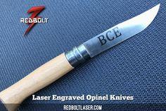 Laser Engraved Etched Opinel Knives #redboltlaser #redbolt #opinel #knives #cheflife http://www.redboltlaser.com