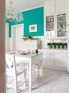 Detalles De La Cocina Perfecta Cocina Turquesa Colores De Casas Interiores Cocinas Retro