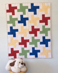 Handmade baby quilt, Windmills, Primary Colors, Baby Shower Gift, Baby Blanket, Nursery Bedding, Baby Christmas, Baby Boy, Gender Neutral Baby Patchwork Quilt, Handmade Baby Quilts, Quilt Labels, Polka Dot Fabric, Baby Boy Or Girl, Windmills, Nursery Bedding, Christmas Baby, Quilt Top