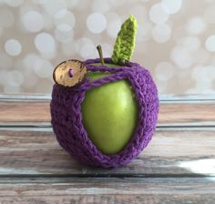 Apple Jacket - Hand Crocheted Purple by curlsofsunshine on Etsy