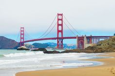 Baker Beach. Best Things to do in San Francisco, including biking the Golden Gate Bridge, best places to get pictures of the bridge, and hiking the redwood forest at Muir Woods. Pin this if you are going to San Francisco!!