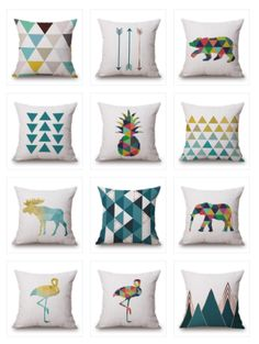 These delightful throw pillow showcases are an artful addition to your living room sofa or guest room. You can mix and match however you like to really pull a room together. Brighten up your room by adding your own unique combination of colors, patterns and shapes. The hardest part is deciding which ones to choose. Start decorating now and let your creativity go wild!! #cushion_covers #cushion #covers #home #decor #throw_pillows #couch #pillow_covers #home #ideas #diy #design #blue